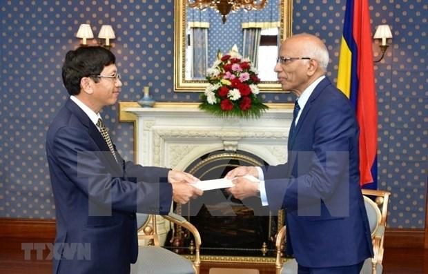 Aspira presidente interino de Mauricio a ampliar la cooperacion entre su pais y Vietnam hinh anh 1