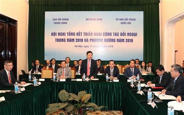 Pide vicepremier de Vietnam acelerar actividades de relaciones exteriores en 2019 hinh anh 1