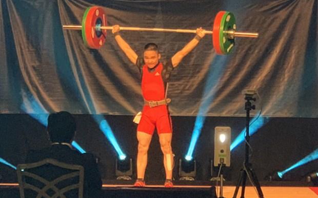 Establece pesista vietnamita tres records en el Campeonato Mundial Juvenil hinh anh 1