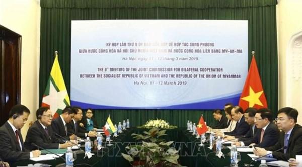 Estableceran Vietnam y Myanmar en 2019 dialogo sobre politica de defensa hinh anh 1