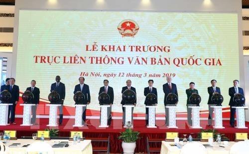 Vietnam lanza Plataforma Nacional de Intercambio de Documentos Electronicos hinh anh 1