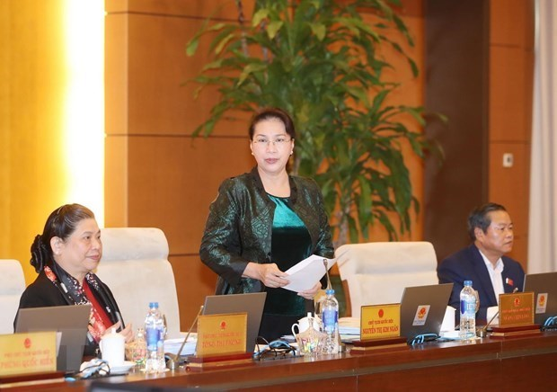Concluye la 32 reunion del Comite Permanente del Parlamento de Vietnam hinh anh 1