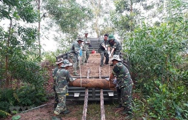 Desactivan obuses encontrados en provincia centrovietnamita de Quang Tri hinh anh 1