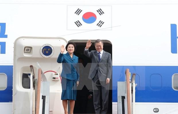 Inicia presidente surcoreano visita a Camboya hinh anh 1