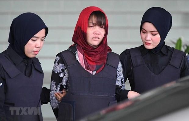 Pospone Corte de Malasia juicio contra sospechosa vietnamita del asesinato de un norcoreano hinh anh 1