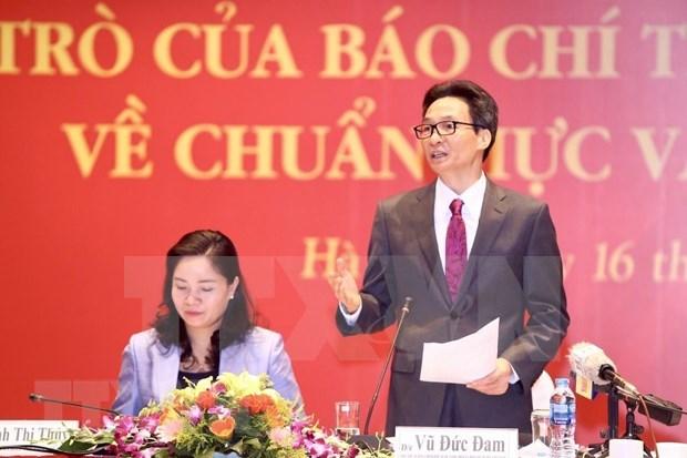 Elogia importante papel de medios de comunicacion en creacion de estandares culturales hinh anh 1