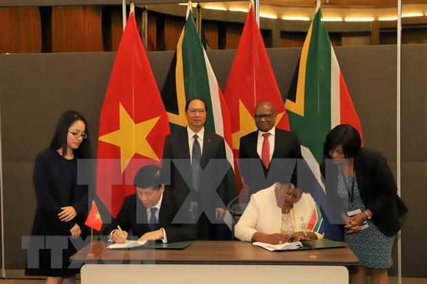 Vietnam y Sudafrica robustecen cooperacion integral hinh anh 1