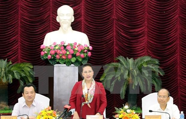 Presidenta del Parlamento vietnamita insta a Binh Thuan a optimizar potencial turistico hinh anh 1