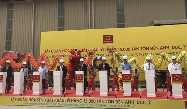 Ba Ria – Vung Tau, Vietnam (VNA) - La corporacion vietnamita Hoa Sen exporto unas 15 mil toneladas de chapas de acero, por un valor de mas de 11 millo hinh anh 1