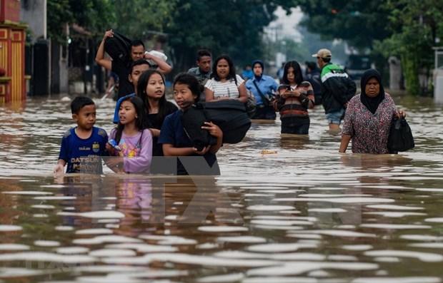 Se eleva a 80 el numero de muertos por inundaciones en Indonesia hinh anh 1