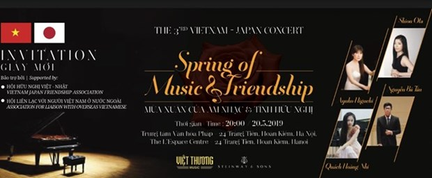 Se celebrara en Hanoi concierto de amistad Vietnam- Japon hinh anh 1