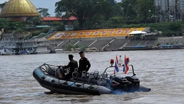 Comienza en China patrullaje conjunto en el rio Mekong hinh anh 1