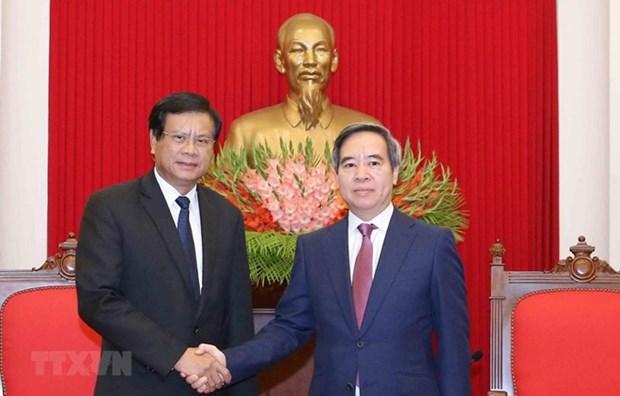 Resaltan gran potencial para la cooperacion entre Vietnam y Laos hinh anh 1