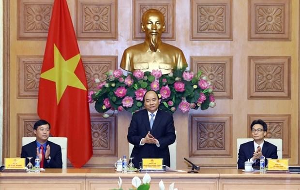 Premier vietnamita exhorta a los jovenes a promover su rol voluntario en asuntos nacionales hinh anh 1