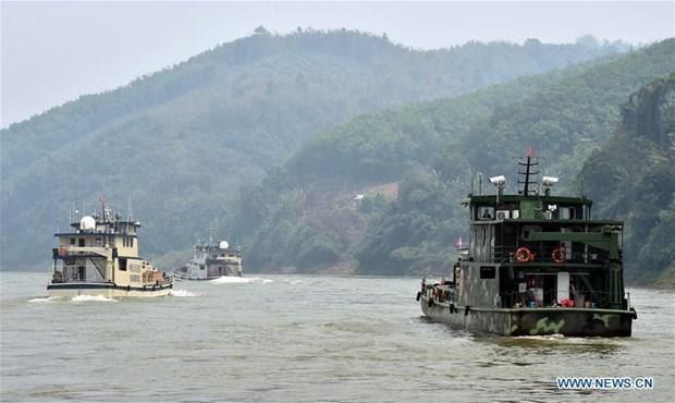 Finaliza en China patrullaje conjunto en el rio Mekong hinh anh 1