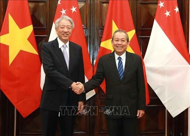 Potencian Vietnam y Singapur asociacion estrategica hinh anh 1