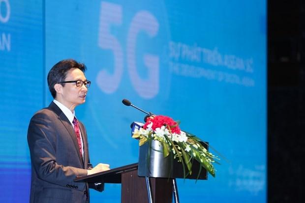Celebran en Vietnam conferencia sobre el desarrollo del 5G de la ASEAN hinh anh 1