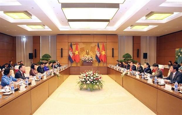 Visita Vietnam delegacion parlamentaria camboyana hinh anh 1