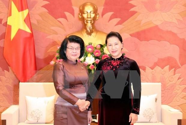 Estrechan cooperacion parlamentos de Vietnam y Camboya hinh anh 1
