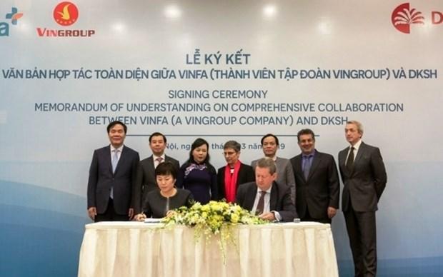 Firman companias de Vietnam y Suiza convenio sobre servicios medicos hinh anh 1