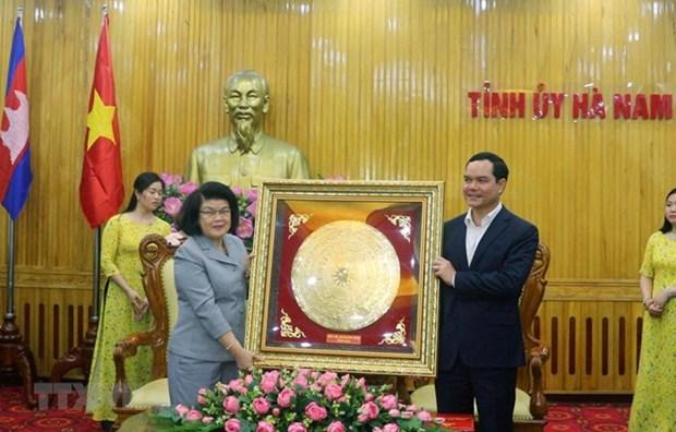 Delegacion de la Asamblea Nacional de Camboya visita provincia vietnamita de Ha Nam hinh anh 1
