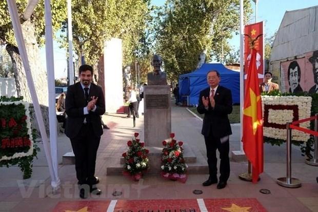 Firman acuerdo para la reparacion del parque Ho Chi Minh en Chile hinh anh 1
