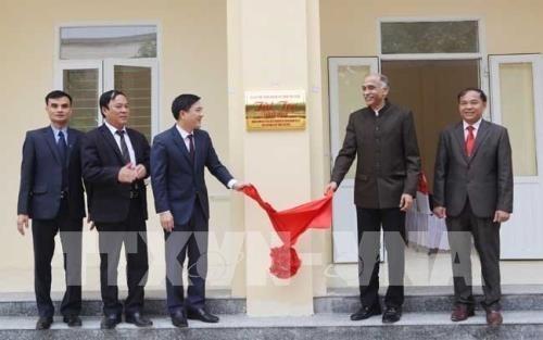 Inauguran obra financiada por el gobierno indio para ninos de minorias etnicas en Vietnam hinh anh 1