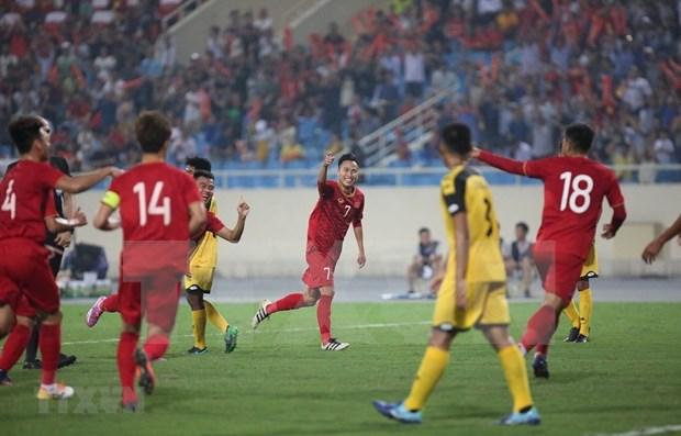 Vietnam golea 6-0 a Brunei en la fase de clasificacion asiatica de futbol sub 23 hinh anh 1