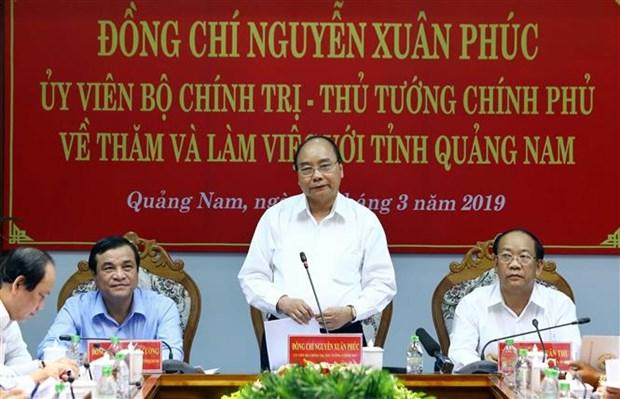 Premier de Vietnam urge a la provincia de Quang Nam a duplicar su PIB hinh anh 1
