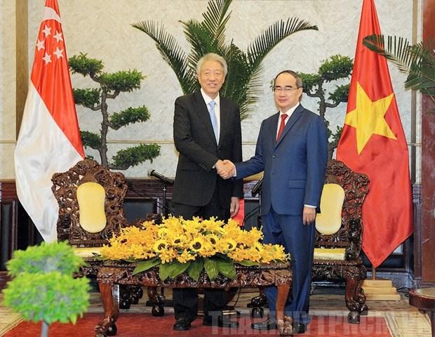 Desea Ciudad Ho Chi Minh colaborar con Singapur en construccion de urbe inteligente hinh anh 1