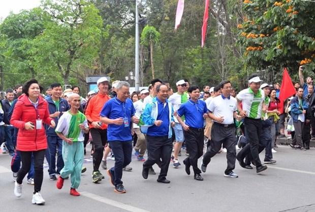 Celebran en Vietnam Dia del Maraton Olimpico por la Salud Publica 2019 hinh anh 1