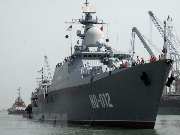 Llego fragata de Vietnam a Singapur para exposicion LIMA 2019 hinh anh 1