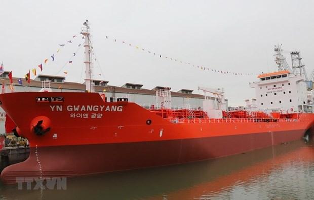 Entrega Vietnam buque petrolero de seis mil 500 toneladas de capacidad a Corea del Sur hinh anh 1