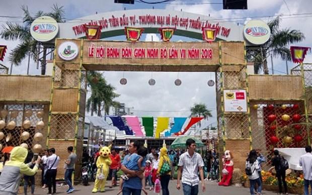 Celebraran en region surena de Vietnam festival de pasteles tradicionales hinh anh 1
