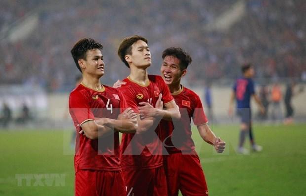 Vietnam avanza hacia la final del campeonato de futbol sub-23 de Asia tras vencer a Tailandia 4-0 hinh anh 1