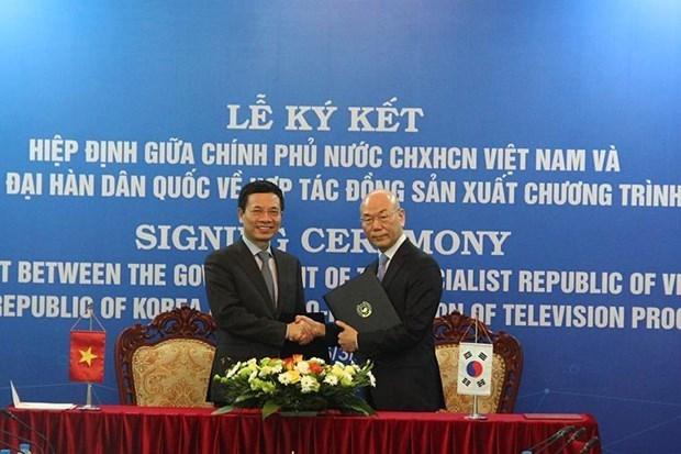 Vietnam y Corea del Sur coproduciran programas de television hinh anh 1