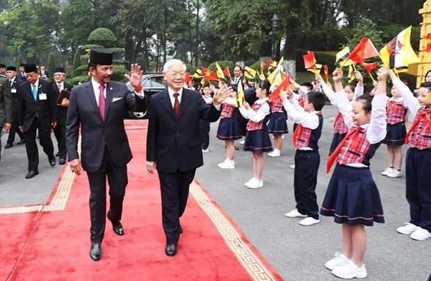 Emiten Vietnam y Brunei Declaracion Conjunta sobre Establecimiento de Asociacion Integral hinh anh 1
