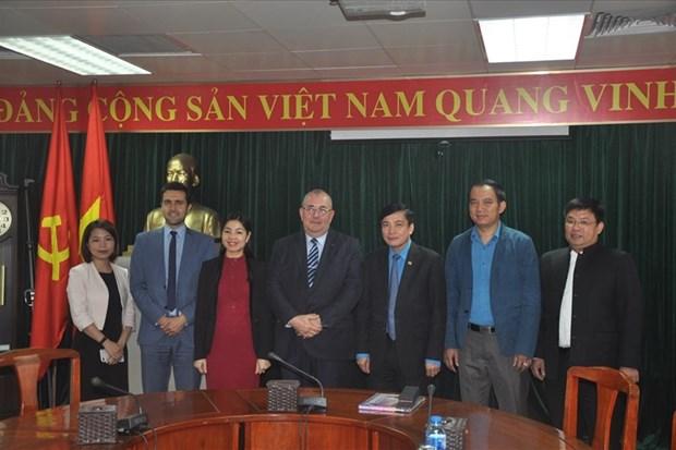Vietnam y Belgica abogan por impulsar nexos sindicales hinh anh 1