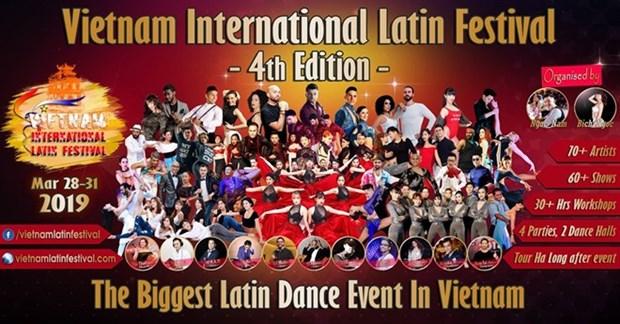 Bailarines internacionales se dan cita en el Festival Latino en Vietnam hinh anh 1