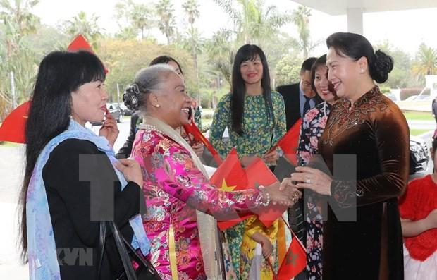 Inicia presidenta del Parlamento de Vietnam visita oficial a Marruecos hinh anh 1