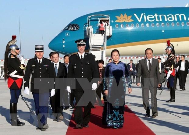 Inicia presidenta parlamentaria de Vietnam visita oficial a Francia hinh anh 1