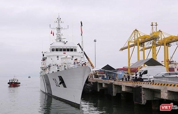 Visita buque guardacostas de la India ciudad central vietnamita de Da Nang hinh anh 1