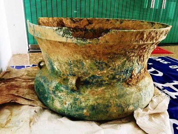 Descubren en Vietnam tambor de bronce con mas de dos mil anos de antiguedad hinh anh 2