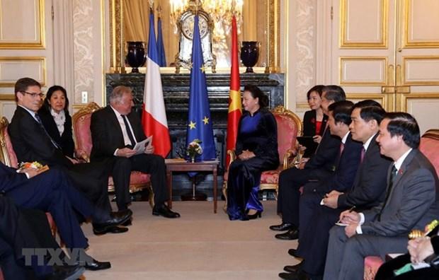 Francia, socio prioritario de Vietnam, expresa titular parlamentaria hinh anh 1