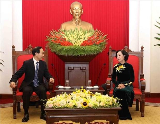 De visita en Vietnam presidente de la Fundacion Soong Ching Ling hinh anh 1