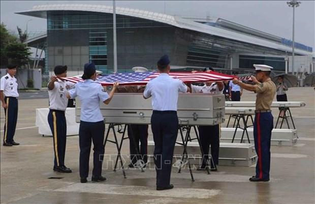 Repatrian restos de soldados estadounidenses caidos durante guerra en Vietnam hinh anh 1