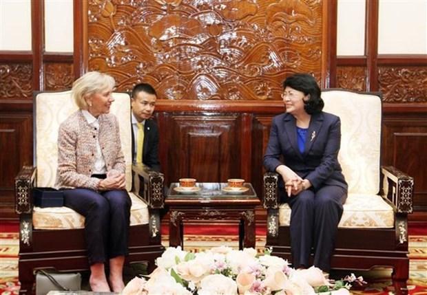 Vicepresidenta vietnamita destaca asistencia de Operacion Sonrisa a ninos discapacitados hinh anh 1