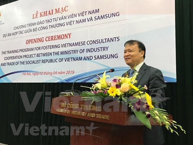 Lanza Samsung en Vietnam plan de ayuda para capacitar a expertos en la industria auxiliar hinh anh 1