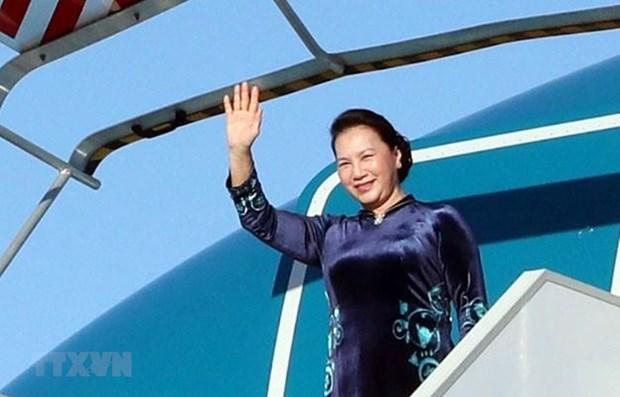Presidenta de Asamblea Nacional de Vietnam inicia visita al Parlamento Europeo hinh anh 1