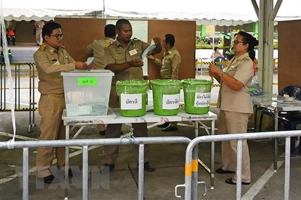 Celebraran en algunas areas de Tailandia elecciones parciales y recuentos de votos hinh anh 1